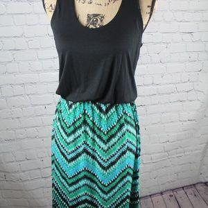 Allison Brittney Maxi Dress w/Chevron Skirt